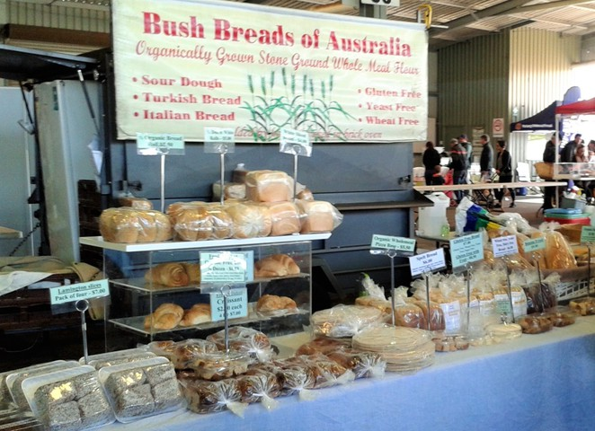 bush breads of australia, canberra, capital region farmers market,