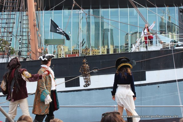caribbean pirates, polly woodside, shakespeare