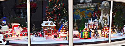 Christmas, lights, display, pegandbill, Lobethal, 2016, window