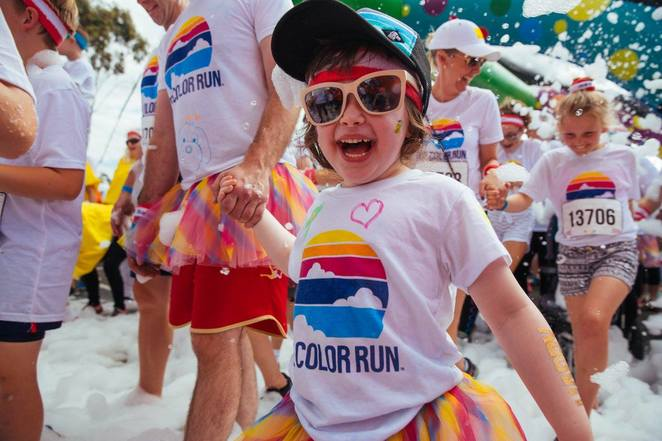 color run, 2018, canberra, events, february, kids, children, ACT, fun, family friendly, fun,