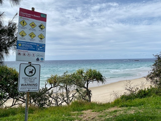 Visitors who wish to swim should take the boardwalk over the northern headland to Cylinder Beach