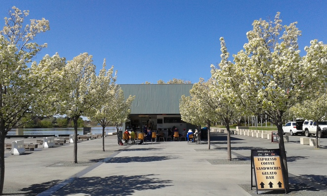 Doms Coffee Bar, Gelato, Canberra, Lake Burley Griffin, Canberra, walking along lake burley griffin, coffee, cafe, icecreams