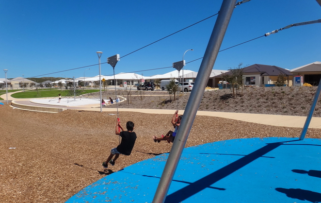 flying fox, perth, playground, eglinton, cinnibar drive, field, climbing frame, sand pit