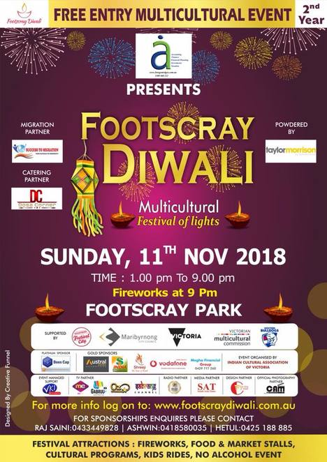 footscray diwali 2018, community event, fun things to do, cultural event, indian markets, indian food, multicultural event, indian sari, indian jewellery, asian cuisine, festival of lights, footscray boat club, indian markets, entertainment, bollywood dancing, multicultural festival of lights, maribyrnong city council, footscray park, firworks, food and market stalls, cultural program, no alcohol event,