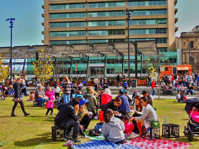 forkmas, fork on the road, victoria square, food trucks, in adelaide, street food, family entertainment, about adelaide, smith family