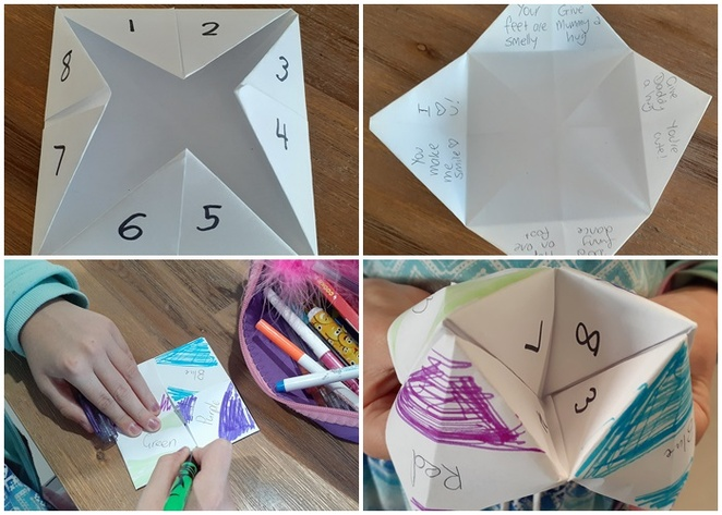 fortune teller, paper craft, school holidays, crafts, paper crafts, things to do, rainy day ideas, cheap, paper, fortune teller crafts, ideas,