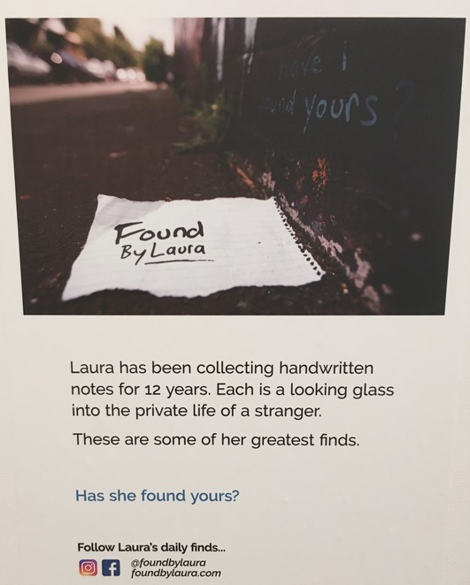 Found by Laura, Notes found, notes lost, Sun Studios Sydney, Urban Art, Alexandria