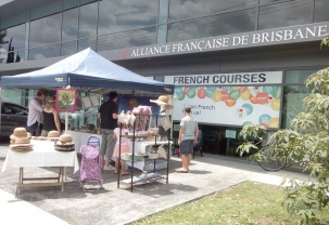 French markets, Alliance Française, Brisbane, West End, French culture, wine, christmas