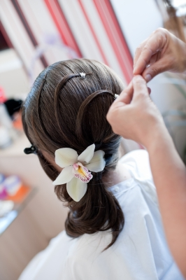Hairstyle with Flower