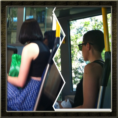 hipsters, Bus ride, Public transport