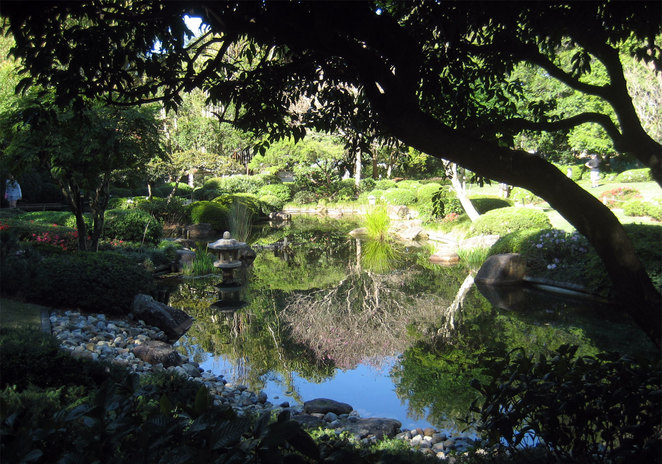 The Japanese Gardens in the Brisbane Botanic Gardens is a nice place to relax