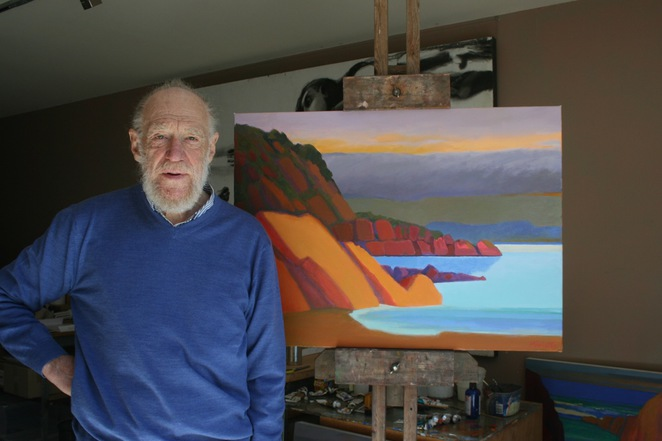 merv, moriarty, colour, flying, arts, landscape, painting, exhibition, free, judith, wright