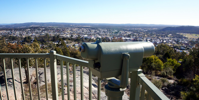 The view from Mt Marlay in Stanthorpe