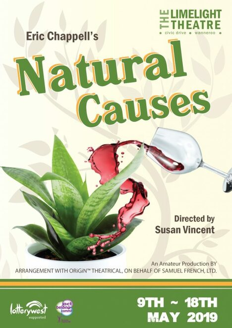 Natural Causes, Limelight Theatre, play, comedy, performing arts, black comedy, stage, humour