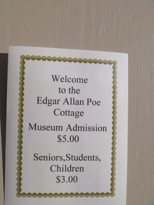 Edgar Allan Poe Cottage Bronx admission