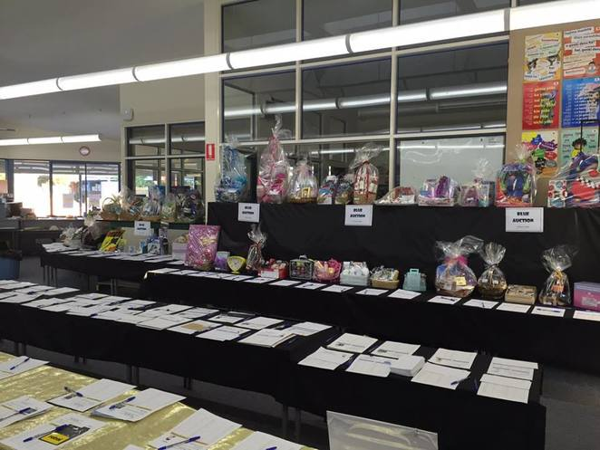 Silent auction, football prizes