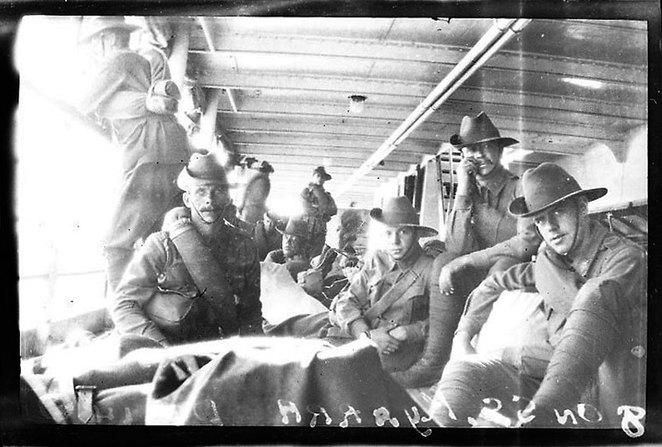 Soldiers on SS Kyarra is from the ANZAC Cottage private collection