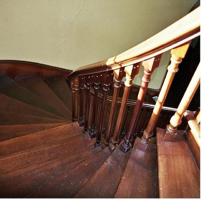 Solid timber staircase leading to second floor