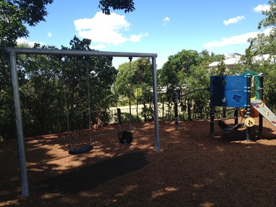 The playground equipment will keep kids entertained for hours