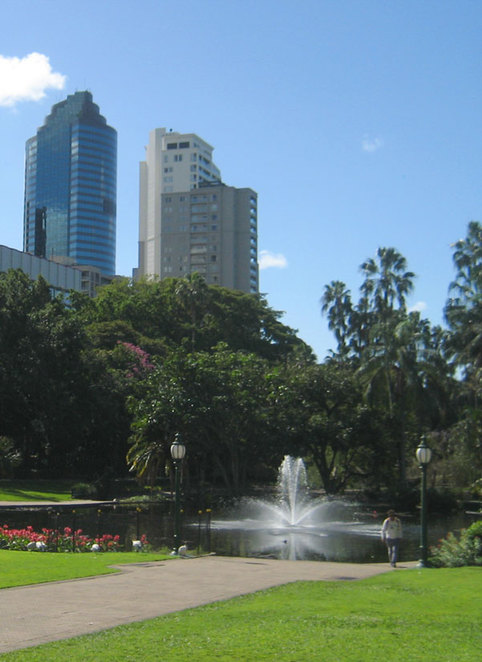 The fountain at the City Botanic Gardens