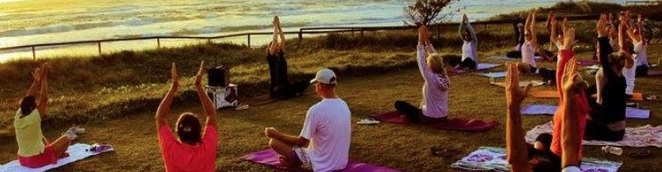 Yoga on the beach Gold Coast