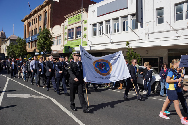 Marching in Malop Street Geelong