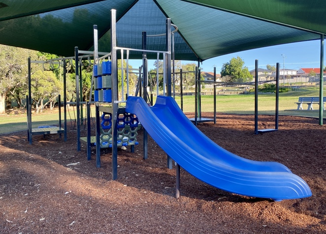 The fantastic new playground is designed with children of all ages in mind