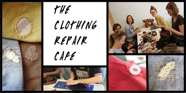 clothing repair cafe, national recycling week, reverse garbage, RGQ, slow clothing, recycling, second hand