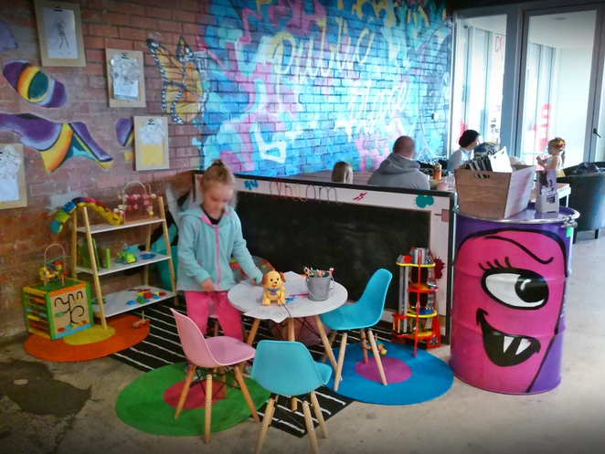 colouring in area, kids play area, public place, chisholm, canberra, cafe, breakfast, lunch, coffee, cafe, tuggeranong, ACT,