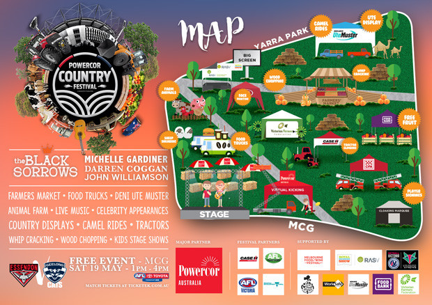 country Festival, free event, free stuff, melbourne, mcg, AFL, powercor,