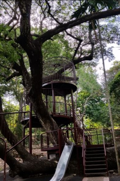 Darwin Botanic Garden, George Brown Botanic Garden, Darwin, playground, children play area, nature play