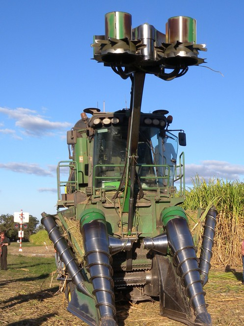 The mighty sugar cane harvester