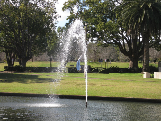 East Creek Park fountain Toowoomba