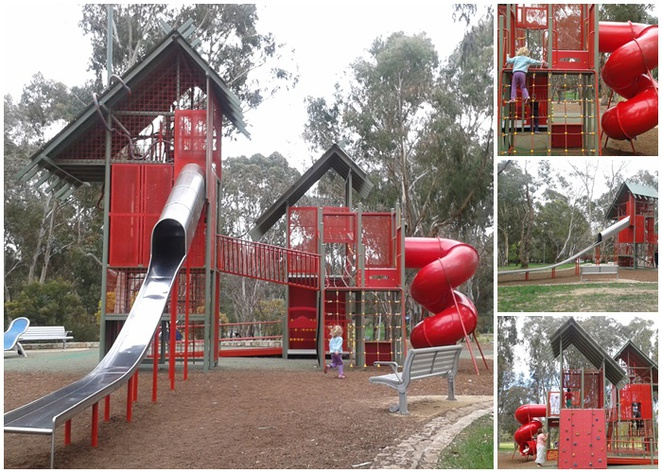 john knight memorial playground, park, belconnen, canberra, ACT, slides, best slides, toddlers, families,
