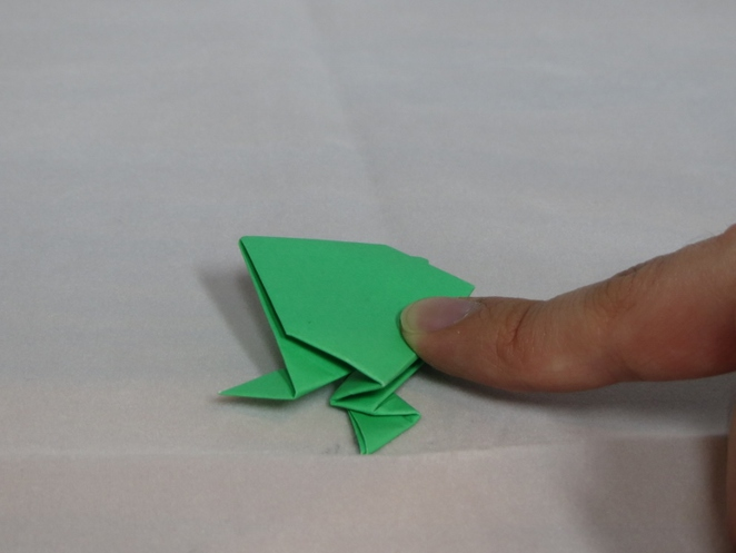 Jumping Frog, Origami
