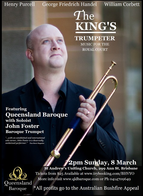 king's trumpeter, trumpet, john foster, baroque, orchestra, st andrews