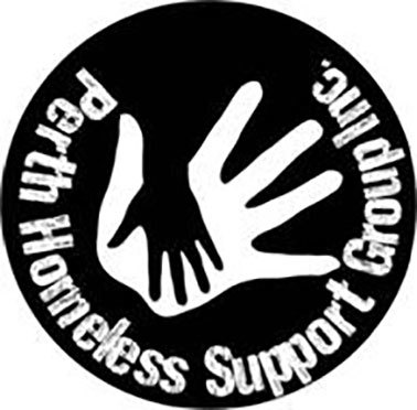 Perth Homeless Support Group Bake Sale Event. Logo.