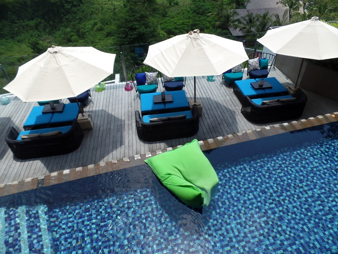 pool in UNIQUE Rooftop Bar & Restaurant at Rimba Jimbaran Bali by AYANA