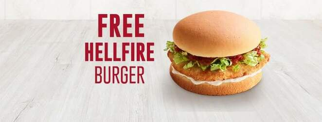 Red, rooster, burger, Hellfire, free