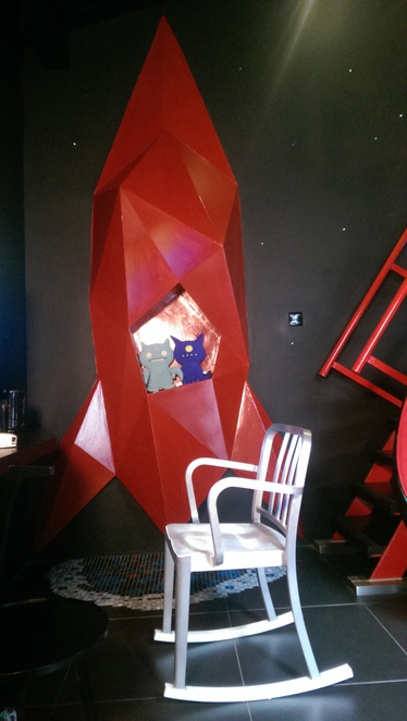Red Space Room at the Wanderlust Hotel