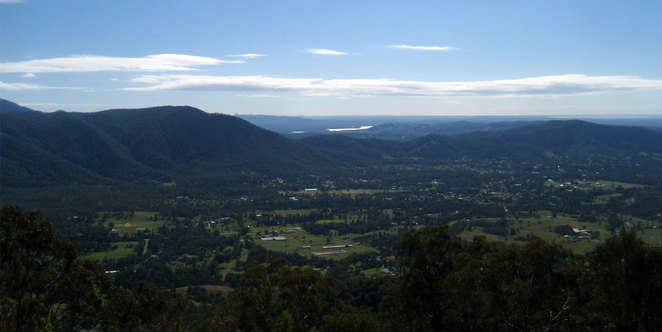 Samford Valley seen from Jollys Lookout