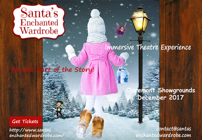 santa's enchanted wardrobe, claremont christmas events, christmas events in perth, things to do in claremont, different things to do for christmas,