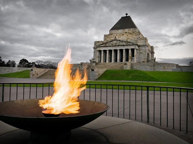 Shrine of Remembrance autumn program Gifts in a billy