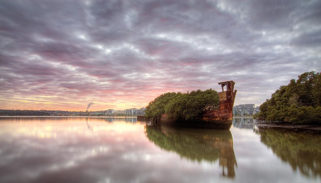 ss ayrfield homebush bay wrecks