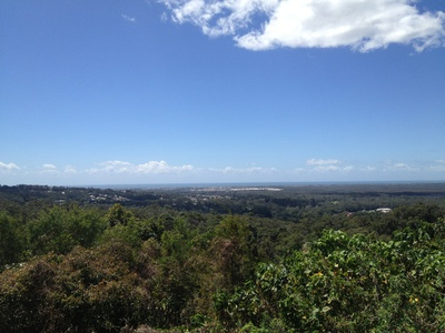 The view out east towards the ocean