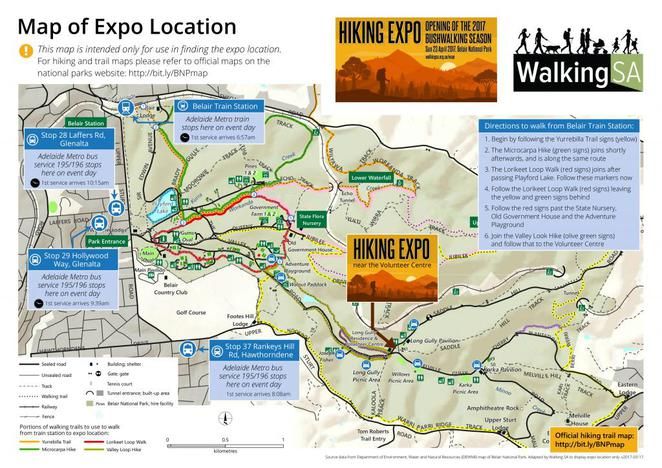 Walking SA; The Hiking Expo; Come-and-Try hikes, extended hikes, Belair National Park