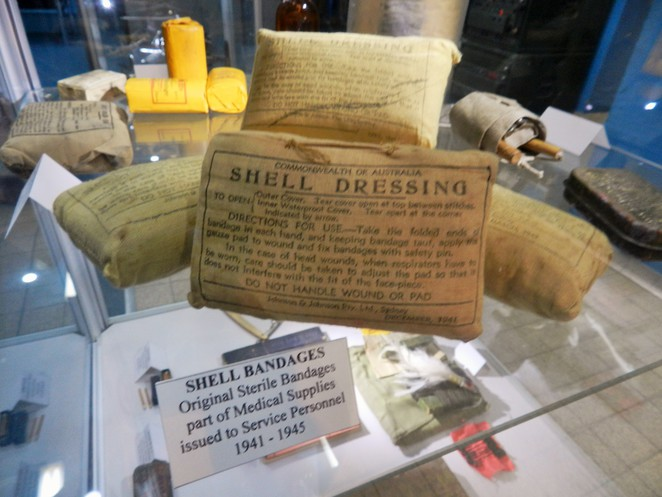 WWII, medical, bandages, museum, RAAF, Townsville