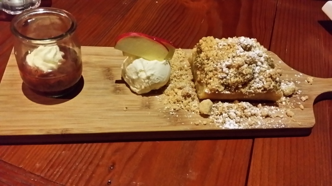 Astonish Patisserie, Warm Cinnamon Apple Crumble, Adelaide