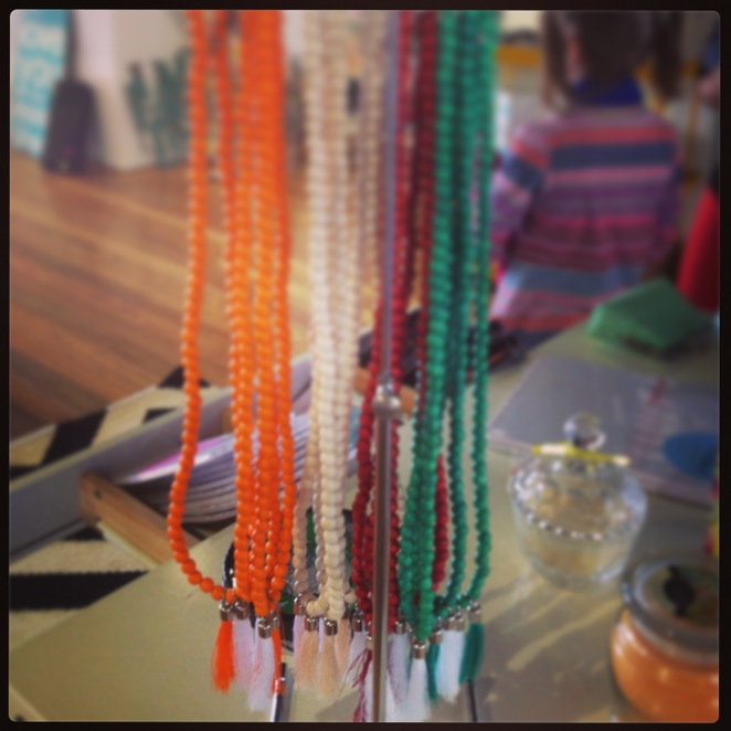 Beautiful necklaces available from Pop Events