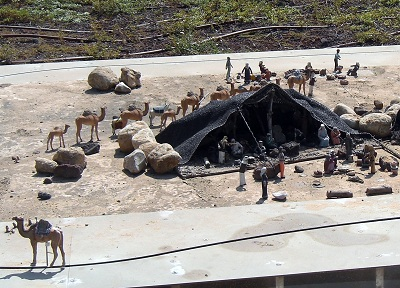 Bedouin tents at Mini Israel
